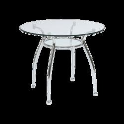 Finezja A fehér króm Étkezőasztal